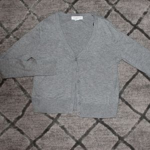 Forever 21 Grey Button-Front Cropped Cardigan
